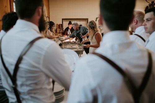 Nourishing Gourmet serving wedding dinner at Shuswap Lake