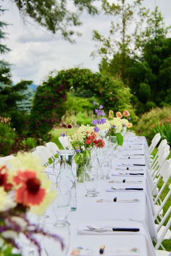 Nourishing Gourmet table setting at Sullindeo Farms