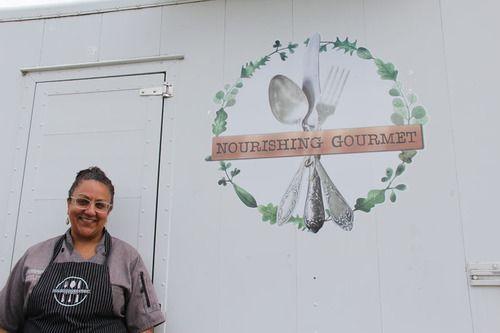 Sameena and the Nourishing Gourmet Trailer