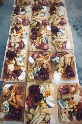 Handcrafted charcuterie boards with meat, fruit, and cheese at Shuswap wedding