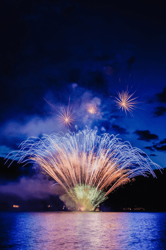 50th Anniversary Fireworks at Shuswap Lake