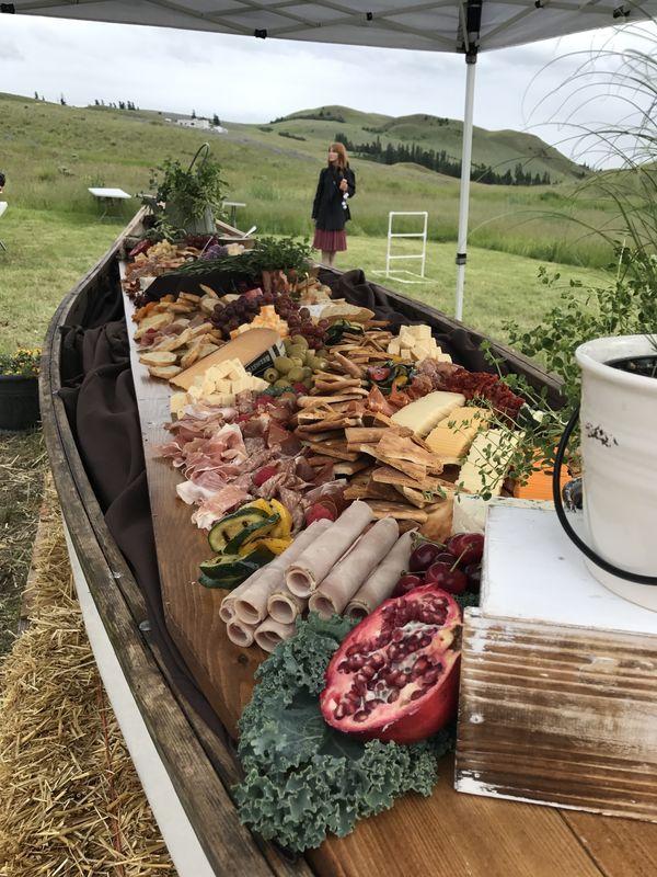 Canoe with Nourishing Gourmet food