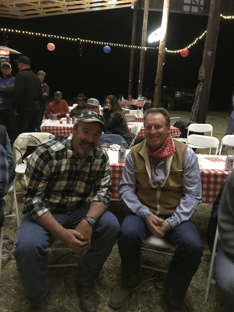 Cowboys After Dinner at Dorman Ranch