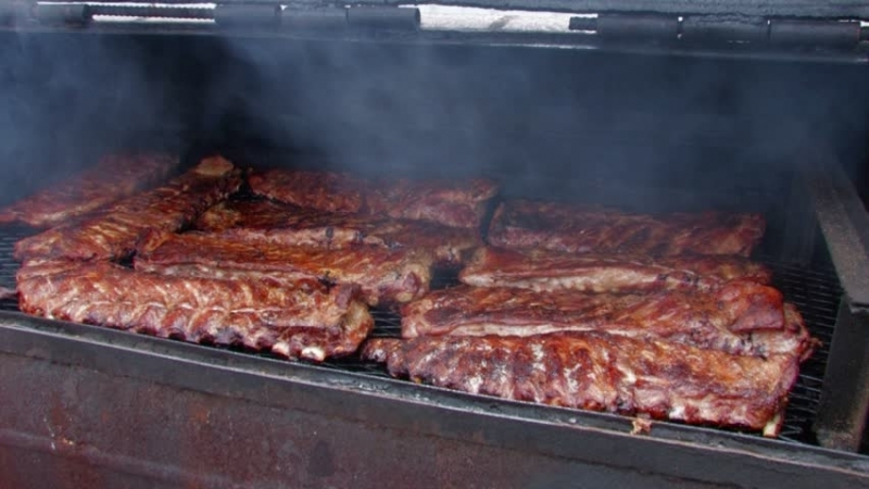 Nourishing Gourmet Ribs Being Grilled
