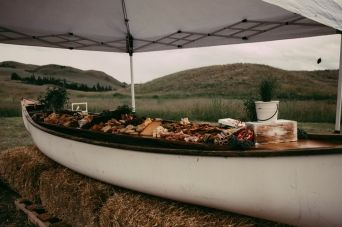 A wonderful shot of Lee Borthistle's Antipasto Canoe Platter courtesy of ChelseyLea Photography