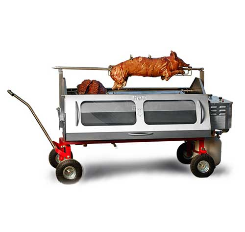 Pig and lamb roasting