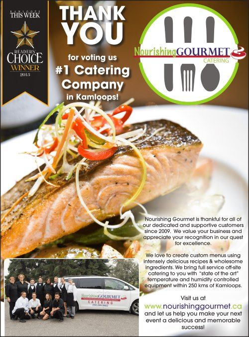 Thank You For Voting Us Number One Catering Company In Kamloops!
